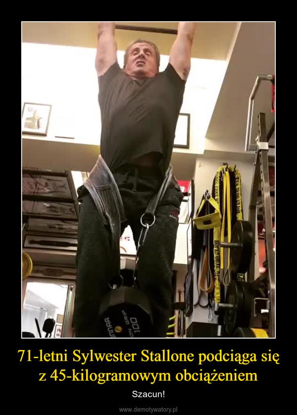 71-letni Sylwester Stallone podciąga się z 45-kilogramowym obciążeniem – Szacun!