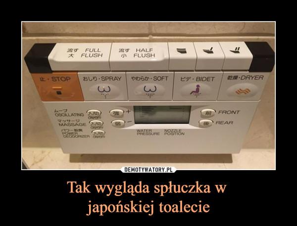 Tak wygląda spłuczka w japońskiej toalecie –