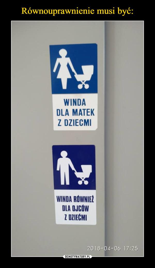 –  Winda dla matek z dziećmi winda również dla ojców z dziećmi