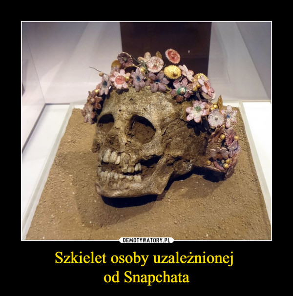 Szkielet osoby uzależnionej od Snapchata –