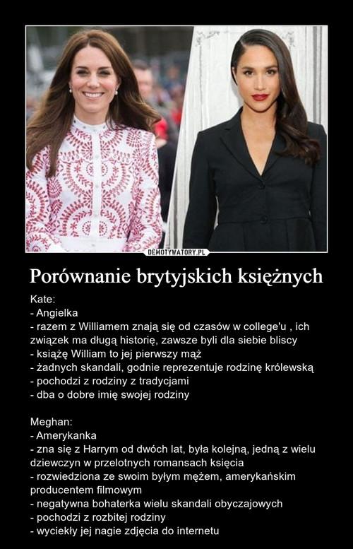 Porównanie brytyjskich księżnych