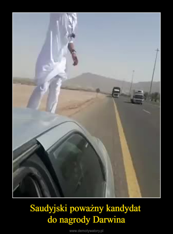 Saudyjski poważny kandydat do nagrody Darwina –