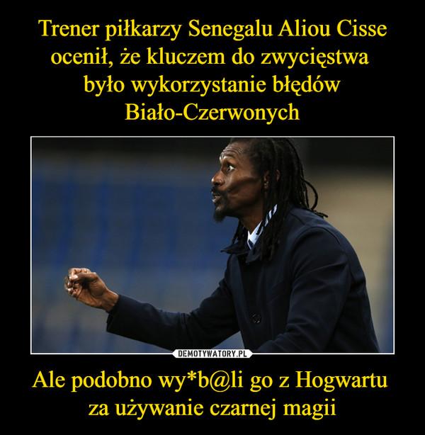 Ale podobno wy*b@li go z Hogwartu za używanie czarnej magii –