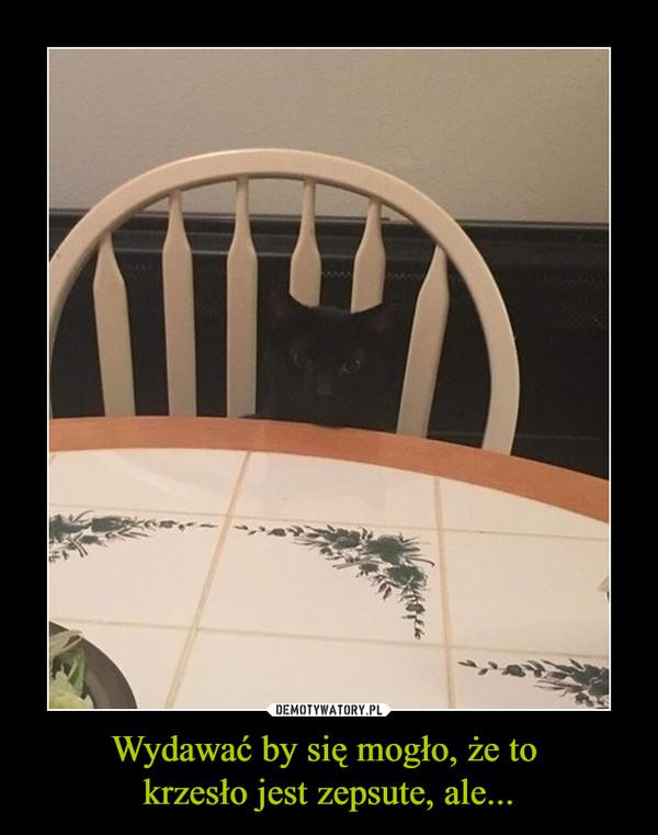 Wydawać by się mogło, że to krzesło jest zepsute, ale... –