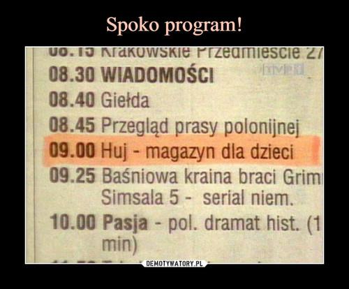 Spoko program!