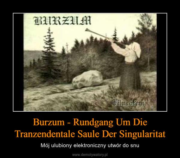 Burzum - Rundgang Um Die Tranzendentale Saule Der Singularitat – Mój ulubiony elektroniczny utwór do snu