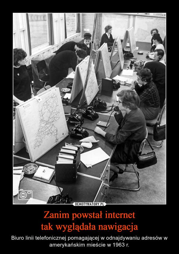Zanim powstał internettak wyglądała nawigacja – Biuro linii telefonicznej pomagającej w odnajdywaniu adresów w amerykańskim mieście w 1963 r.