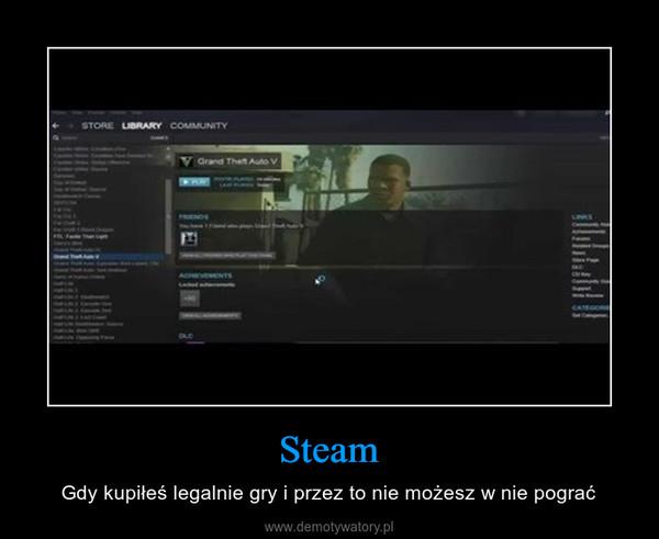 Steam – Gdy kupiłeś legalnie gry i przez to nie możesz w nie pograć