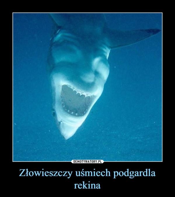 Złowieszczy uśmiech podgardla rekina –