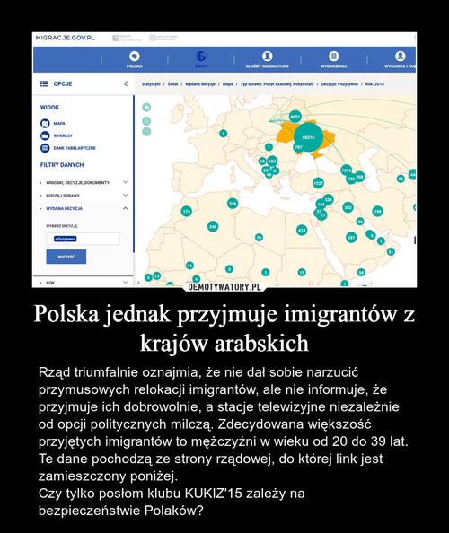 Polska jednak przyjmuje imigrantów z krajów arabskich