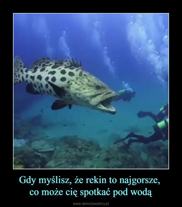 Gdy myślisz, że rekin to najgorsze, co może cię spotkać pod wodą –