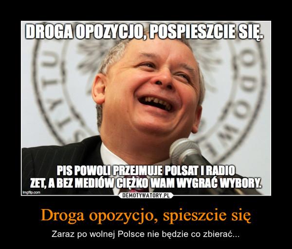 Droga opozycjo, spieszcie się – Zaraz po wolnej Polsce nie będzie co zbierać...