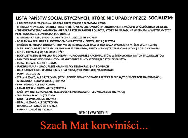 Szach Mat korwiniści... –