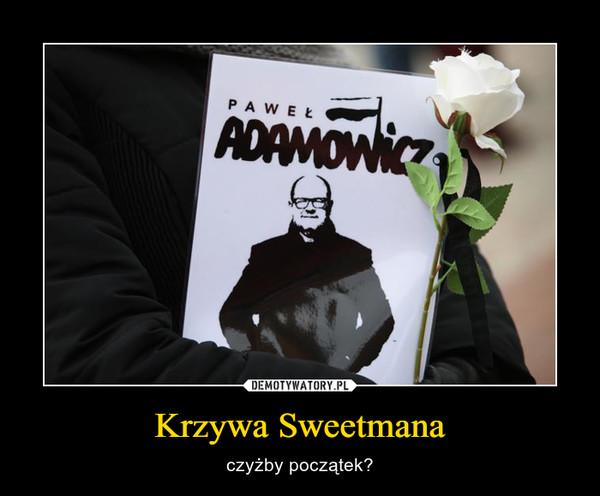 Krzywa Sweetmana – czyżby początek?