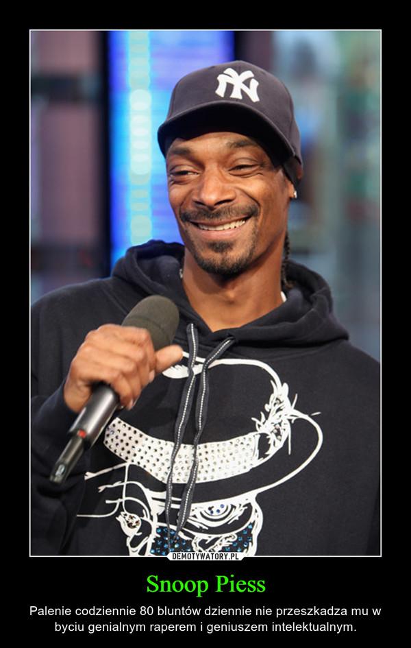 Snoop Piess – Palenie codziennie 80 bluntów dziennie nie przeszkadza mu w byciu genialnym raperem i geniuszem intelektualnym.