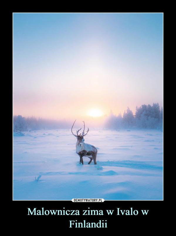 Malownicza zima w Ivalo w Finlandii –