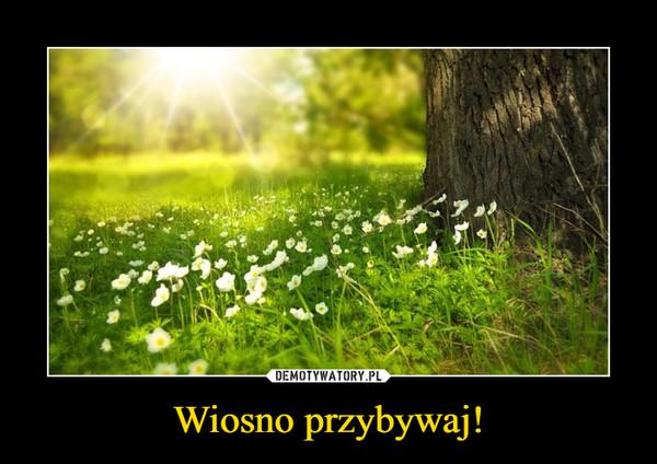 Wiosno przybywaj! –