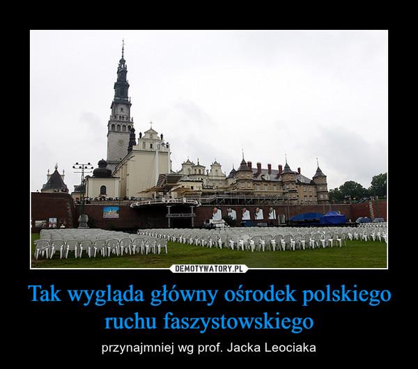 Tak wygląda główny ośrodek polskiego ruchu faszystowskiego – przynajmniej wg prof. Jacka Leociaka