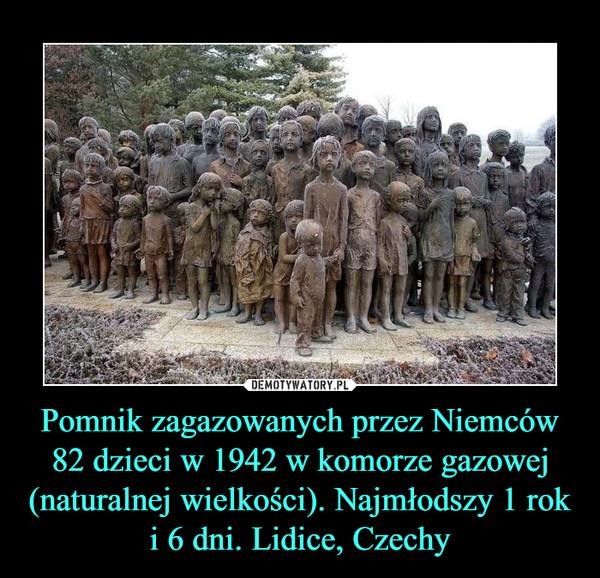 Pomnik zagazowanych przez Niemców 82 dzieci w 1942 w komorze gazowej (naturalnej wielkości). Najmłodszy 1 rok i 6 dni. Lidice, Czechy –