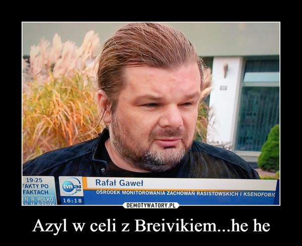 Azyl w celi z Breivikiem...he he –