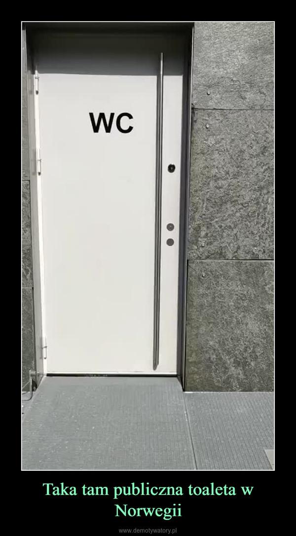 Taka tam publiczna toaleta w Norwegii –
