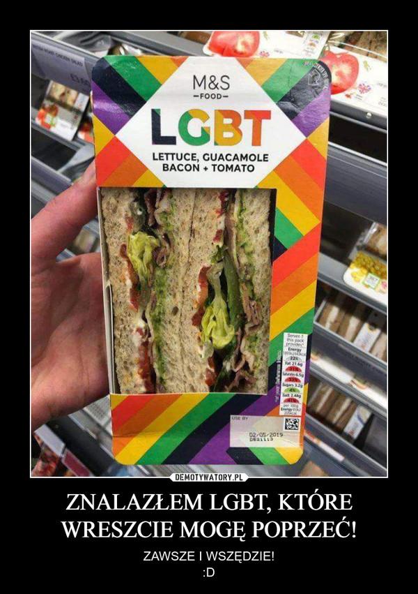 ZNALAZŁEM LGBT, KTÓRE WRESZCIE MOGĘ POPRZEĆ! – ZAWSZE I WSZĘDZIE!:D