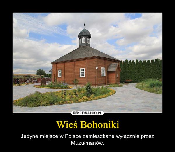 Wieś Bohoniki – Jedyne miejsce w Polsce zamieszkane wyłącznie przez Muzułmanów.