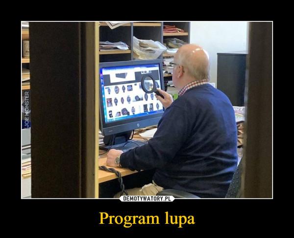 Program lupa –