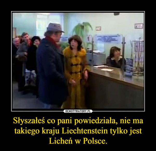 Słyszałeś co pani powiedziała, nie ma takiego kraju Liechtenstein tylko jest Licheń w Polsce. –