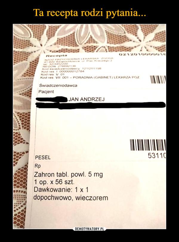 –  Jan Andrzej Pesel Dawkowanie dopochwowo wieczorem