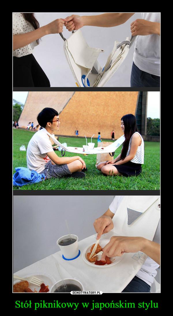 Stół piknikowy w japońskim stylu –