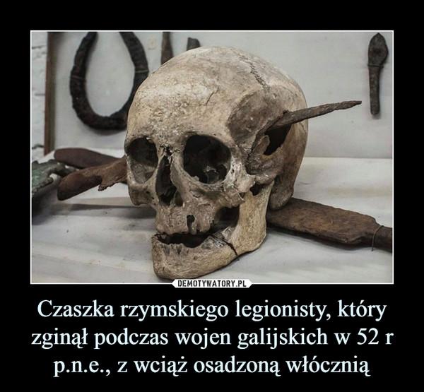 Czaszka rzymskiego legionisty, który zginął podczas wojen galijskich w 52 r p.n.e., z wciąż osadzoną włócznią –
