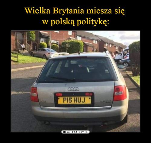 Wielka Brytania miesza się  w polską politykę: