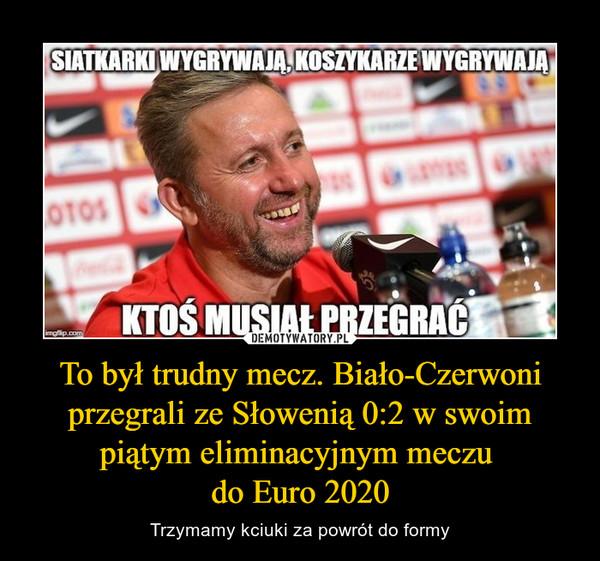 To był trudny mecz. Biało-Czerwoni przegrali ze Słowenią 0:2 w swoim piątym eliminacyjnym meczu do Euro 2020 – Trzymamy kciuki za powrót do formy