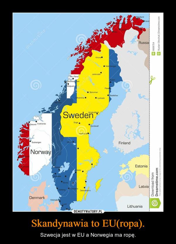 Skandynawia to EU(ropa). – Szwecja jest w EU a Norwegia ma ropę.