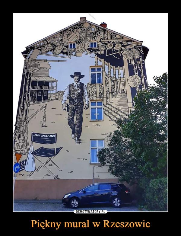 Piękny mural w Rzeszowie –
