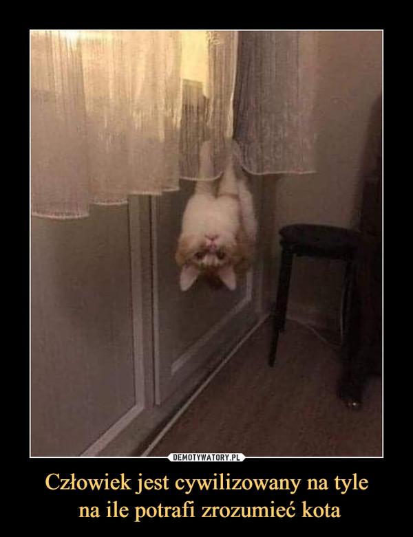 Człowiek jest cywilizowany na tyle na ile potrafi zrozumieć kota –