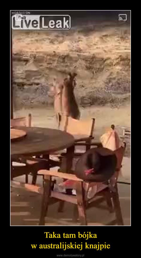 Taka tam bójkaw australijskiej knajpie –
