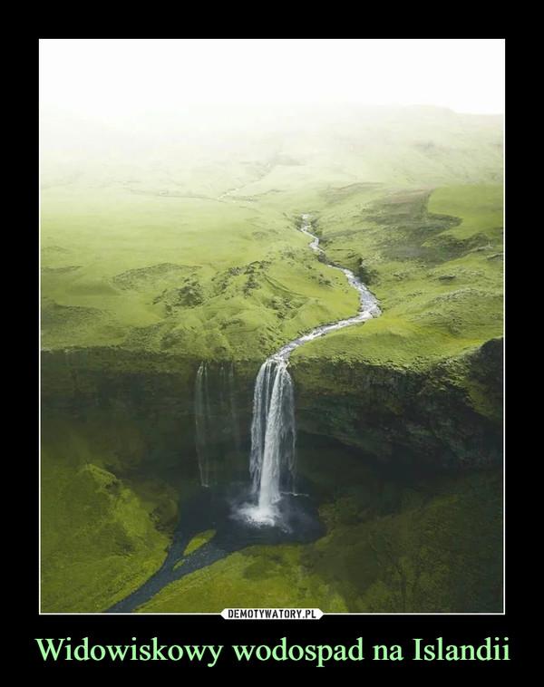 Widowiskowy wodospad na Islandii –
