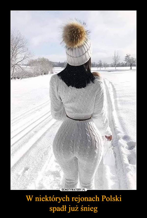 W niektórych rejonach Polskispadł już śnieg –