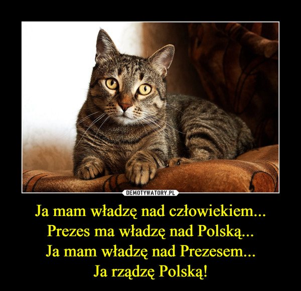 Ja mam władzę nad człowiekiem...Prezes ma władzę nad Polską...Ja mam władzę nad Prezesem...Ja rządzę Polską! –