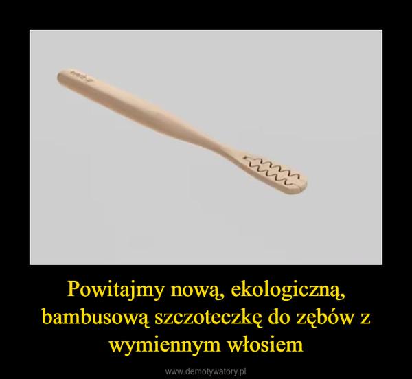Powitajmy nową, ekologiczną, bambusową szczoteczkę do zębów z wymiennym włosiem –