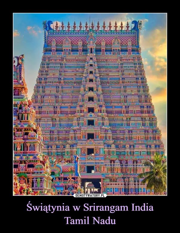 Świątynia w Srirangam IndiaTamil Nadu –