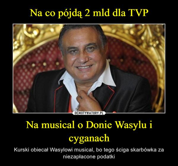 Na musical o Donie Wasylu i cyganach – Kurski obiecał Wasylowi musical, bo tego ściga skarbówka za niezapłacone podatki
