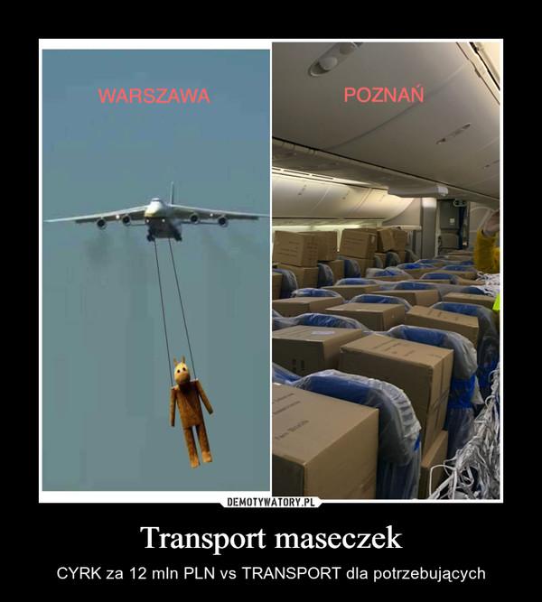 Transport maseczek – CYRK za 12 mln PLN vs TRANSPORT dla potrzebujących