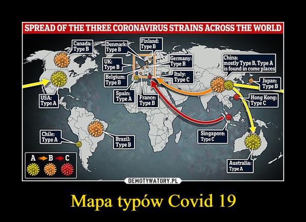 Mapa typów Covid 19 –