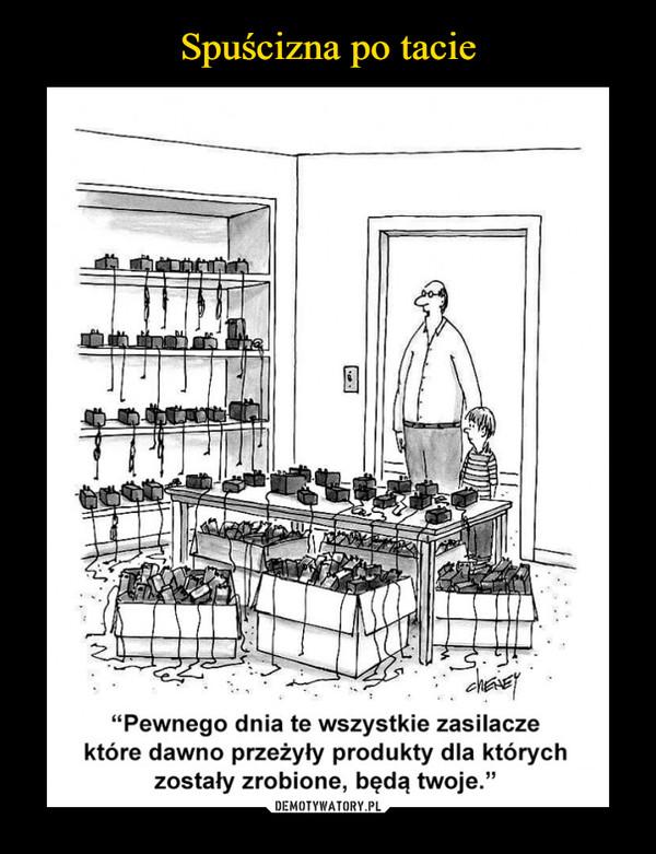 –  Pewnego dnia te wszystkie zasilacze które dawno przeżyły produkty dla których zostały zrobione będą twoje