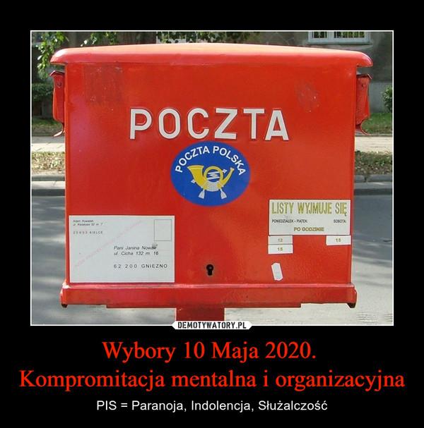 Wybory 10 Maja 2020. Kompromitacja mentalna i organizacyjna – PIS = Paranoja, Indolencja, Służalczość