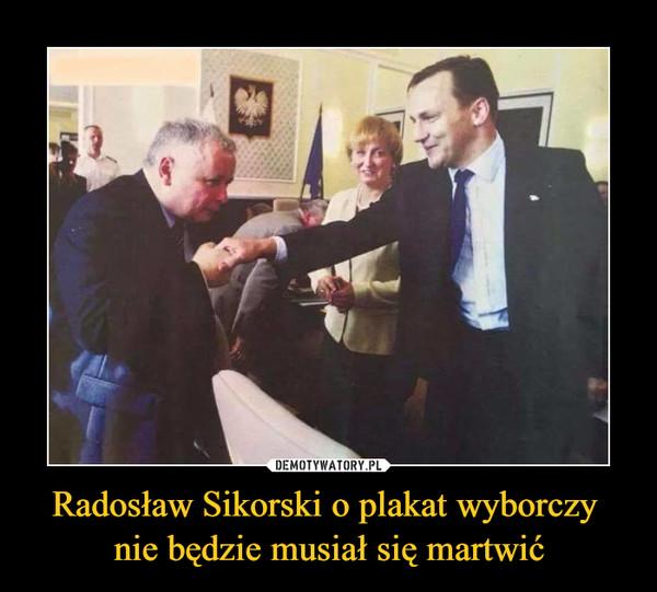 Radosław Sikorski o plakat wyborczy nie będzie musiał się martwić –