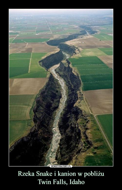 Rzeka Snake i kanion w pobliżu Twin Falls, Idaho